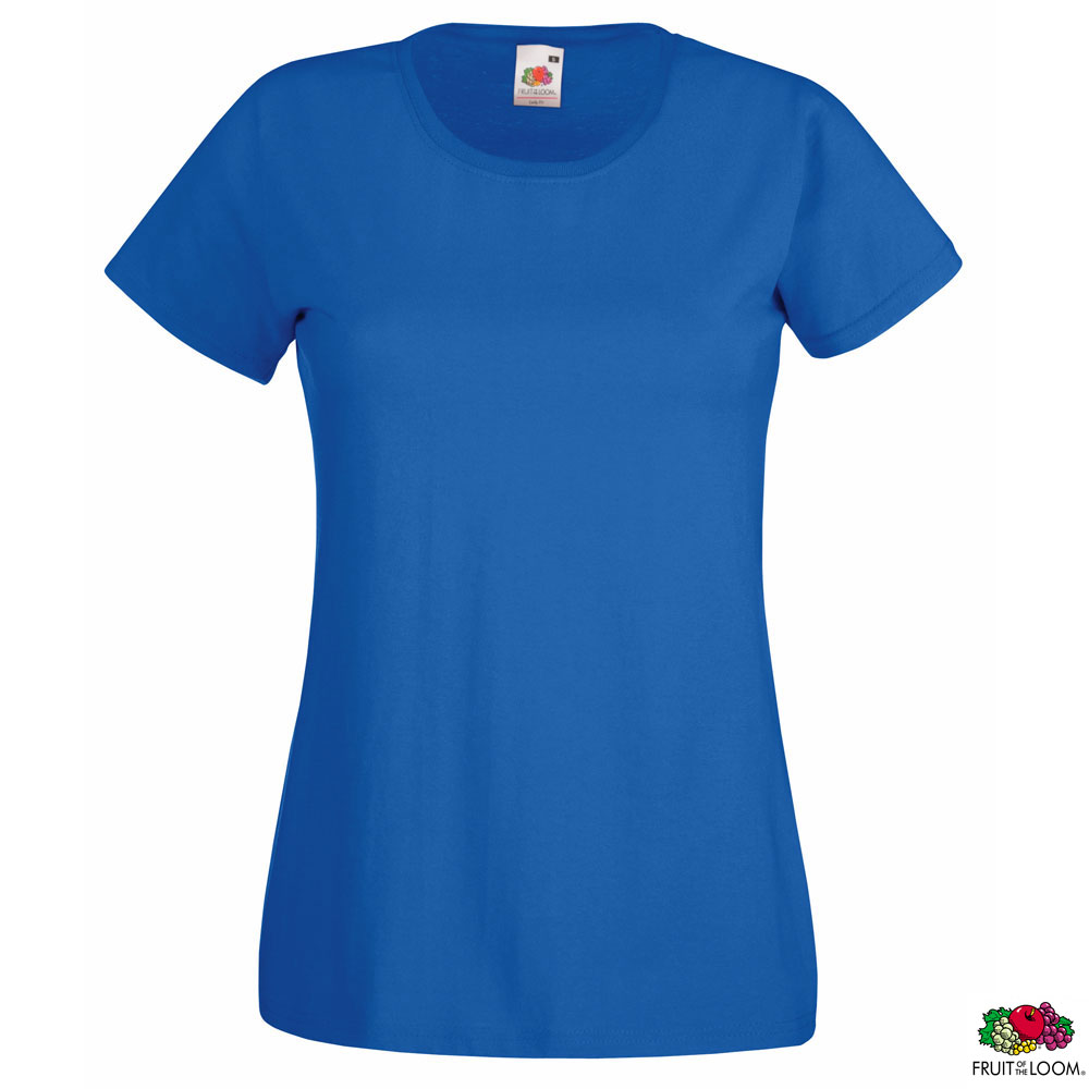Женская футболка 'Lady-Fit Valueweight-T' L (Fruit of the Loom), 165 гр/м2