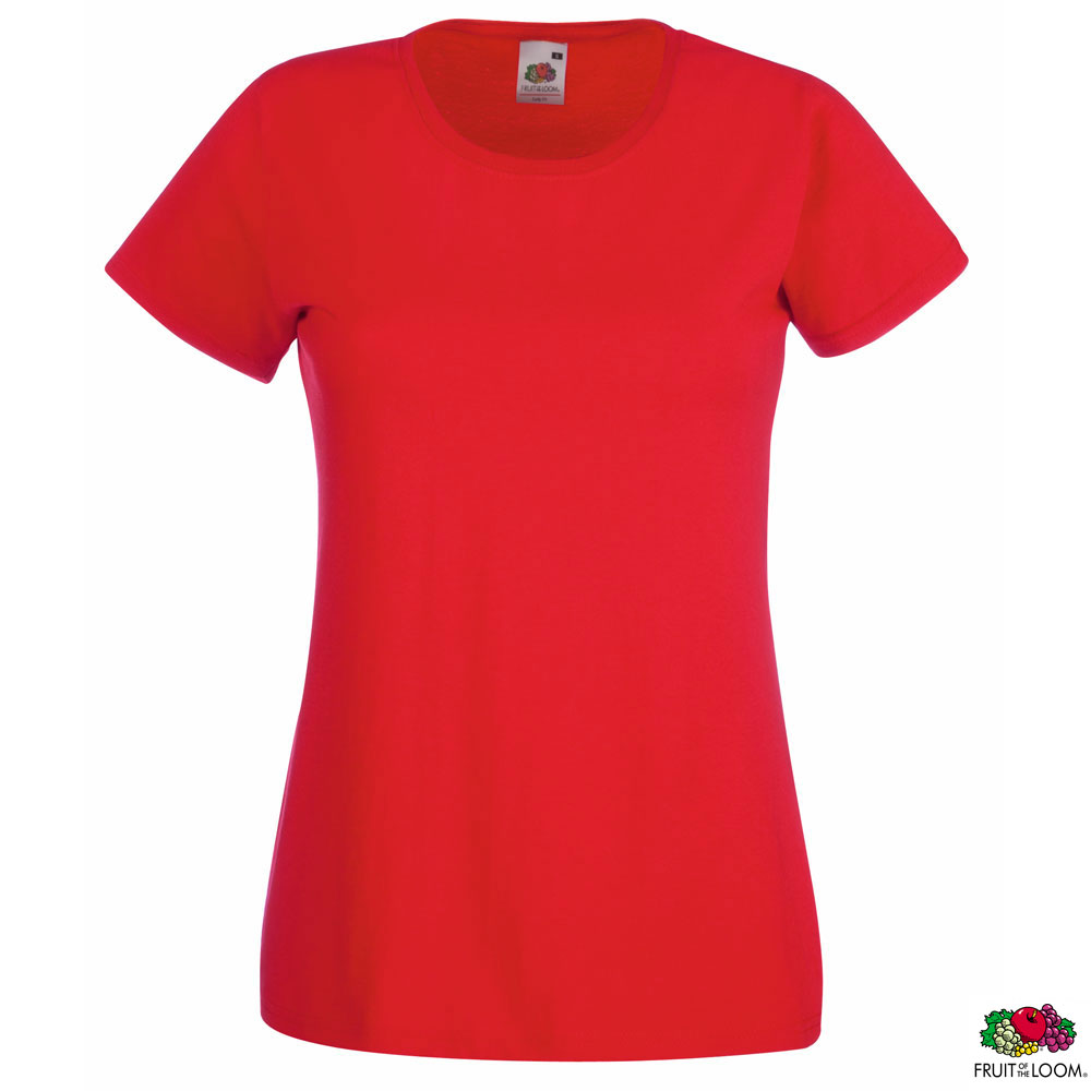 Женская футболка 'Lady-Fit Valueweight-T' XL (Fruit of the Loom), 165 гр/м2